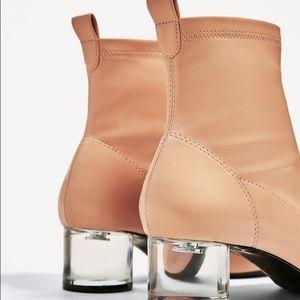 Zara - Nude Slip on Booties